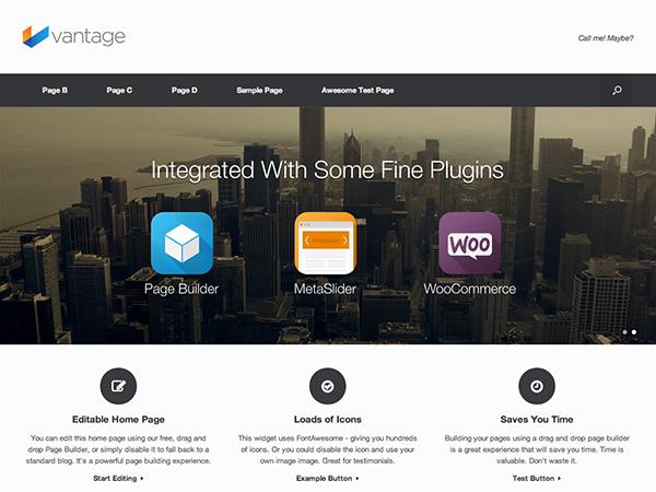 Vantage - Template responsivo para Lojas Virtuais do WordPress