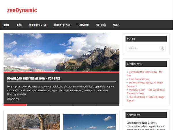 zeeDynamic - Tema Free para WordPress